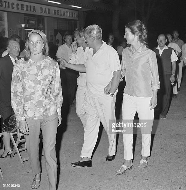 First Lady at Leisure Ravello Italy Even when relaxing at the local village cafe in Ravello Jackie Kennedy goes casual in sandals and slacks and silk...