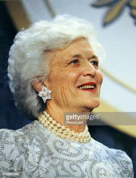 First Lady Barbara Bush, wife of George HW Bush, Washington DC, 1991.