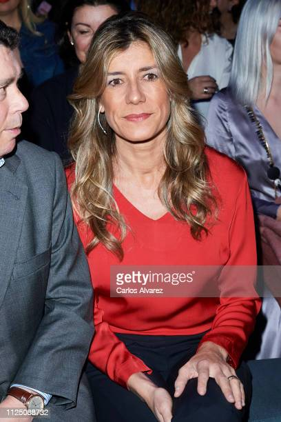 First lady Begoña Gomez attends the Teresa Helbig fashion show during the Mercedes Benz Fashion Week Autumn/Winter 20192020 at Ifema on January 26...