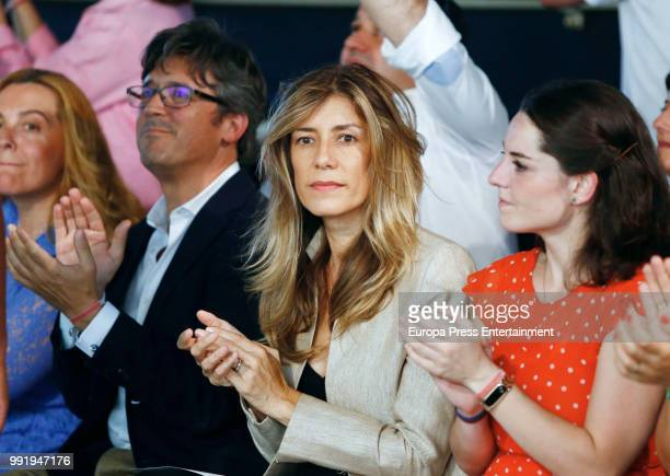 First Lady Begona Gomez attends Juana Martin charity show to raise funds for breast cancer during MercedesBenz Fashion Week Madrid Spring/summer...