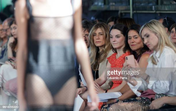 First Lady Begona Gomez is seen at the Juana Martin show during MercedesBenz Fashion Week Madrid Spring/summer 201819 at Train Museum on July 4 2018...
