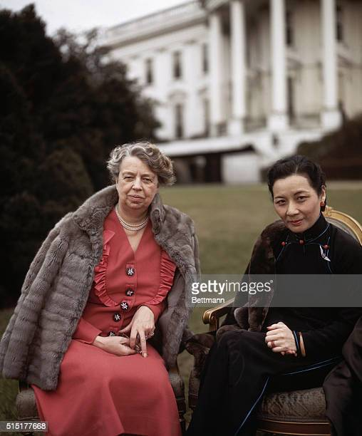 First Lady Eleanor Roosevelt and wife of Chiang Kai Shek Meiling Chiang at the White House