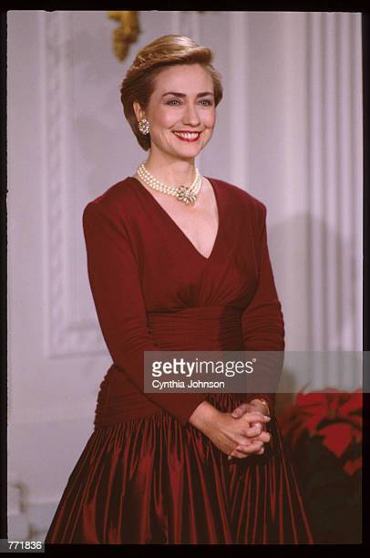 First Lady Hillary Clinton poses December 5 1993 in Washington DC After taking office President Clinton chose Hillary Clinton to head a special...