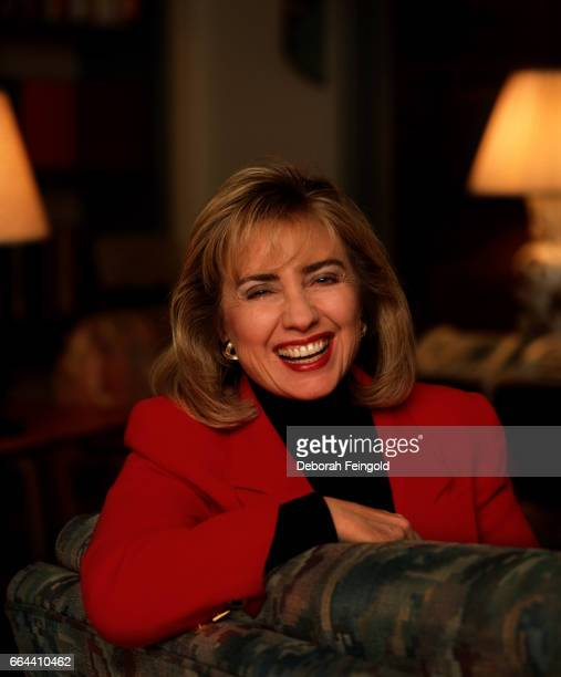 First Lady Hillary Clinton poses for a portrait in December 1992 in Little Rock, Arkansas.