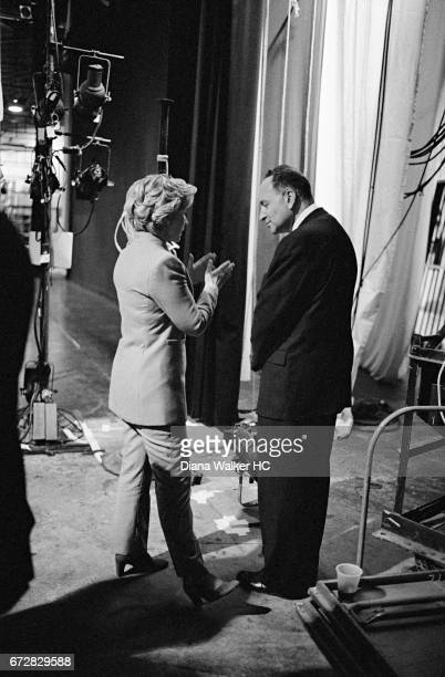 First Lady Hillary Rodham Clinton and New York congressman Charles Schumer are photographed on December 3 1998 at the Colden Center for the...