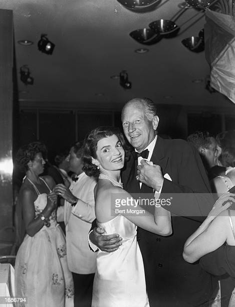 US First Lady Jacqueline Kennedy dances with Earl T Smith at a formal party Palm Beach Towers Palm Beach Florida 1961
