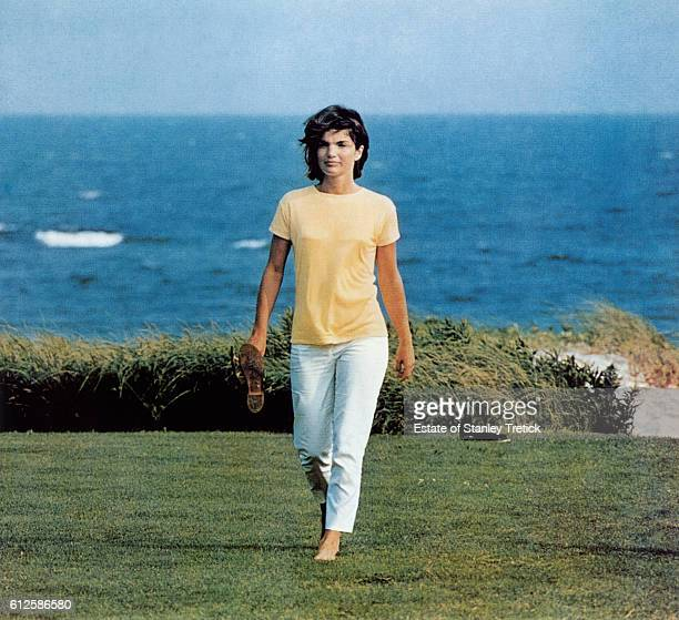 First Lady Jacqueline Lee 'Jackie' Bouvier Kennedy in Hyannis Port in 1964 sometime after the President's assassination