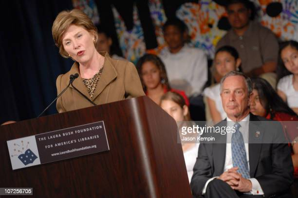 First Lady Laura Bush and Michael Bloomberg New York City Mayor