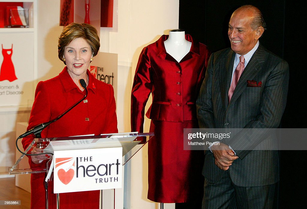 Laura Bush At Heart Truth Campaign In New York : News Photo