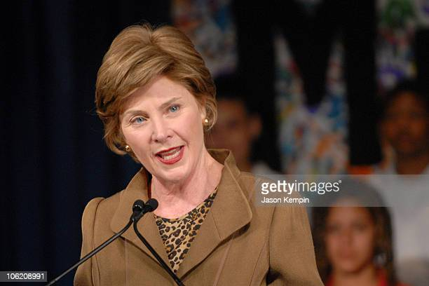 First Lady Laura Bush during Laura Bush Foundation For America's Libraries Grant - May 30, 2007 at P.S. 188 The Island School in New York City, New...