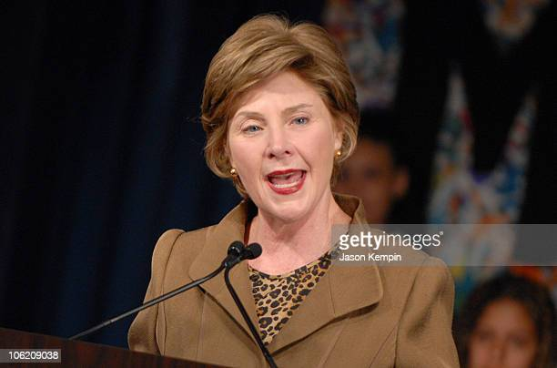 First Lady Laura Bush during Laura Bush Foundation For America's Libraries Grant May 30 2007 at PS 188 The Island School in New York City New York...