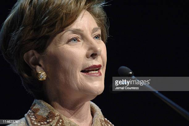 First Lady Laura Bush speaks at the Opening Plenary of the Clinton Global Initiative 2006 at the Sheraton in New York City on September 20 2006