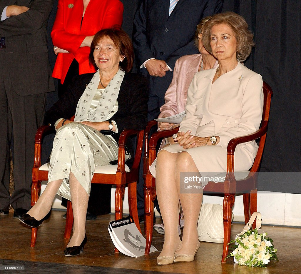 Queen Sofia of Spain and First Lady Livia Klausova of the Czech Rebublic Attend