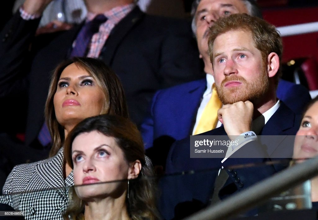 U.S. First Lady Melania Trump and Prince Harry attend the opening ceremony on day 1 of the Invictus Games Toronto 2017 at Air Canada Centre on September 23, 2017 in Toronto, Canada. The Games use the power of sport to inspire recovery, support rehabilitation and generate a wider understanding and respect for the Armed Forces