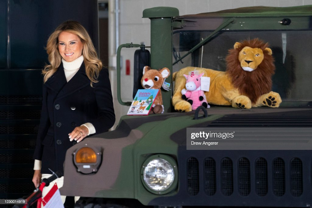 First Lady Melania Trump Joins Marine Toys For Tots Holiday Drive : News Photo
