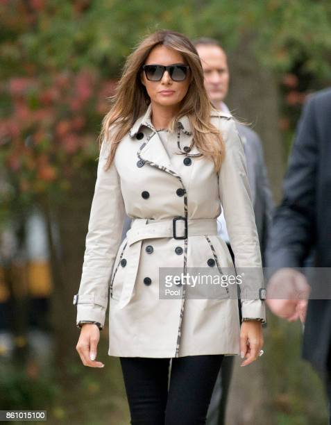 First lady Melania Trump as she accompanies her husband United States President Donald J Trump on a tour of the US Secret Service James J Rowley...