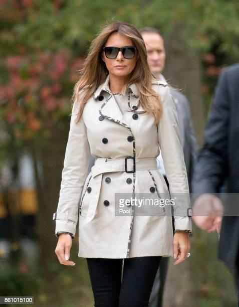 First lady Melania Trump as she accompanies her husband, United States President Donald J. Trump, on a tour of the U.S. Secret Service James J....