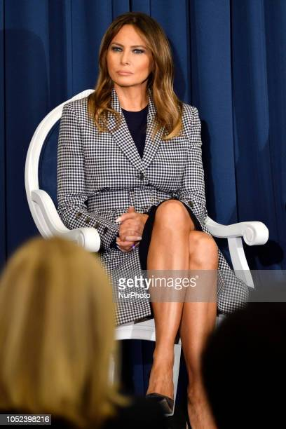 First Lady Melania Trump attends the conference on Neonatal Abstinence Syndrome at Thomas Jefferson University Hospital in Philadelphia PA on October...