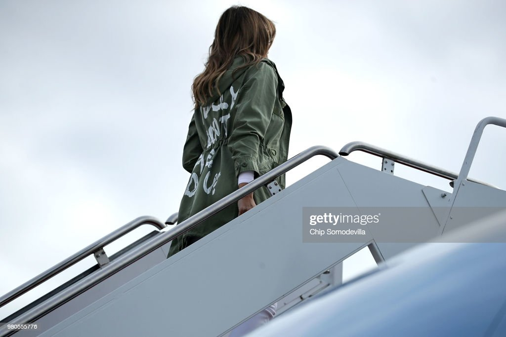 First Lady Melania Trump Visits Immigrant Detention Center On U.S. Border : News Photo