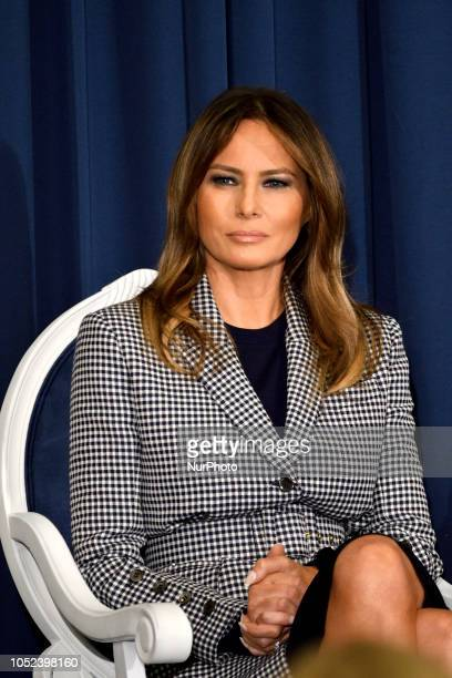First Lady Melania Trump during conference on Neonatal Abstinence Syndrome at Thomas Jefferson University Hospital in Philadelphia PA on October 17...