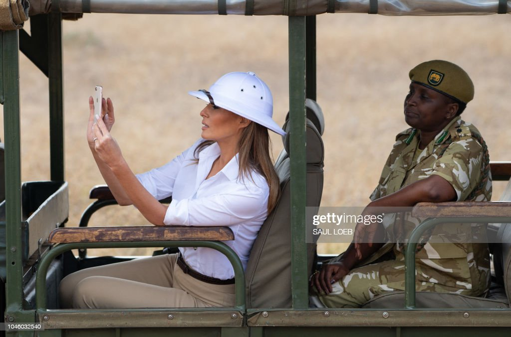 ce8659d3c87 US First Lady Melania Trump goes on a safari with Nelly Palmeris ...