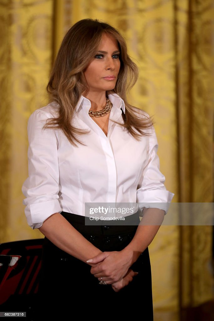 First Lady Melania Trump Hosts A Celebration Of MilitaryMothers Event : News Photo