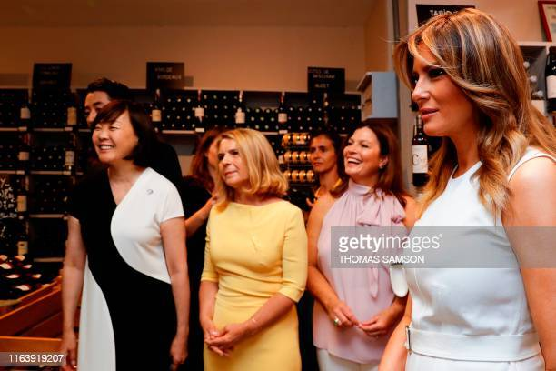 US First Lady Melania Trump Japan's Prime Minister's wife Akie Abe European Council President's wife Malgorzata Tusk and Australia's Prime Minister's...