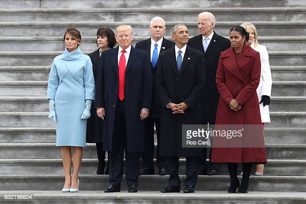 First Lady Melania Trump Karen Pence President Donald Trump Vice President Mike Pence former president Barack Obama former vice president Joe Biden...