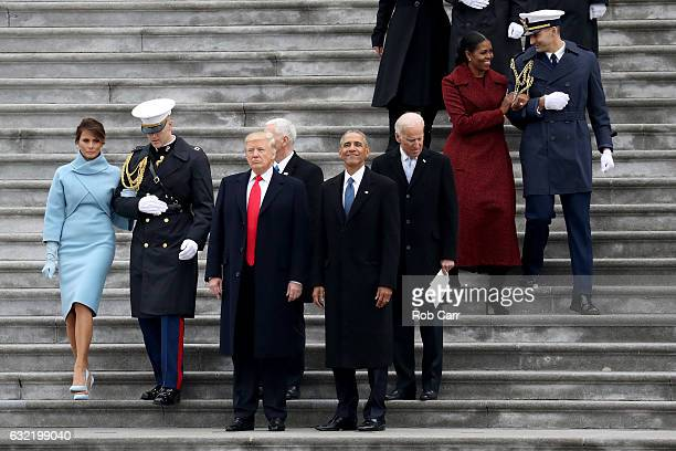 First Lady Melania Trump President Donald Trump Vice President Mike Pence former president Barack Obama former vice president Joe Bidenand Michelle...