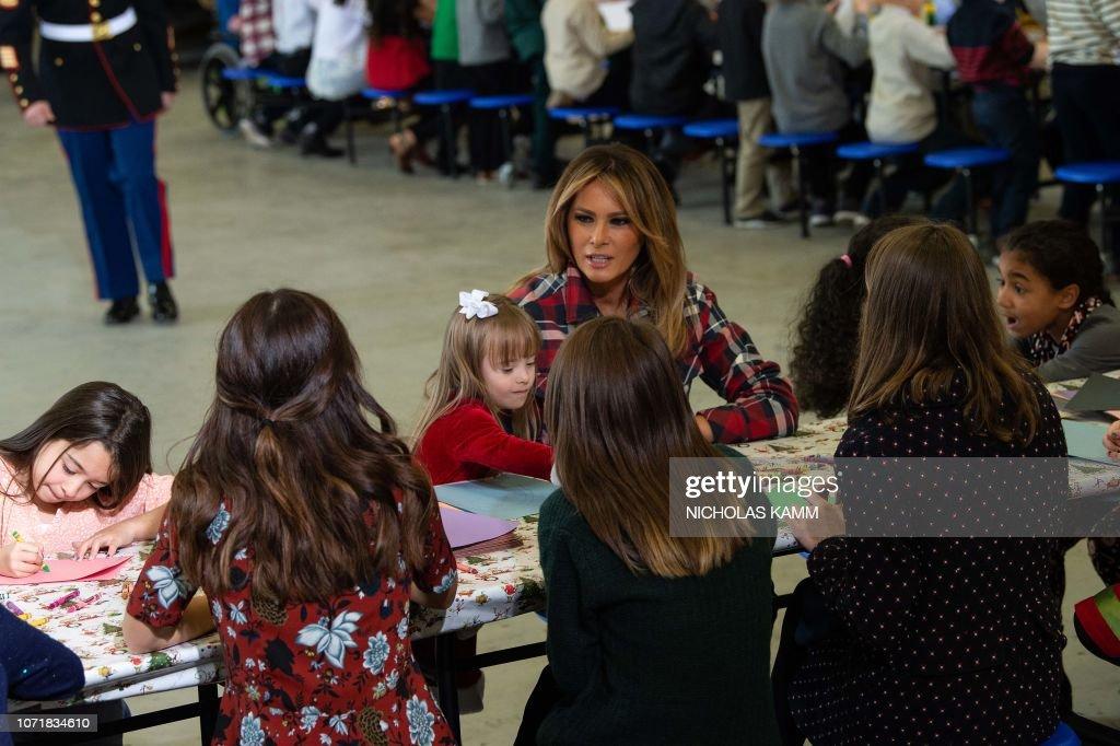 US-POLITICS-MELANIA-CHRISTMAS : News Photo