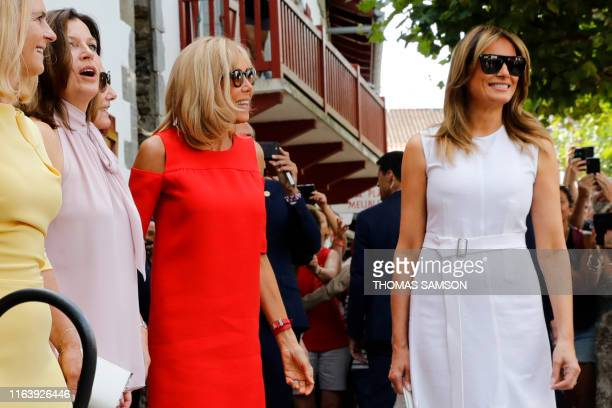 US First Lady Melania Trump Wife of French President Brigitte Macron Australian prime minister's wife Jenny Morrison and Chile's First Lady Cecilia...