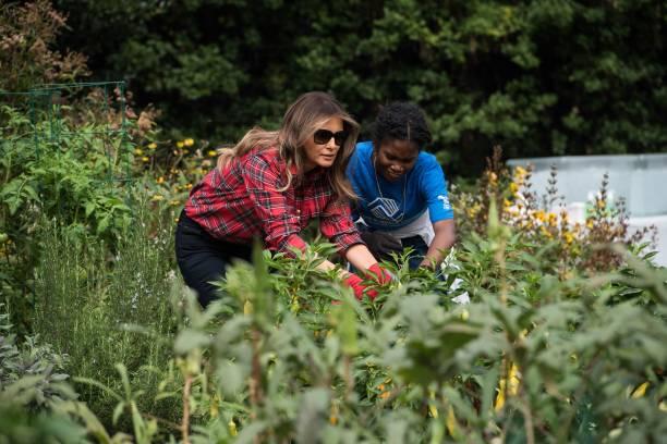 Fotos Und Bilder Von First Lady Melania Trump Holds White House