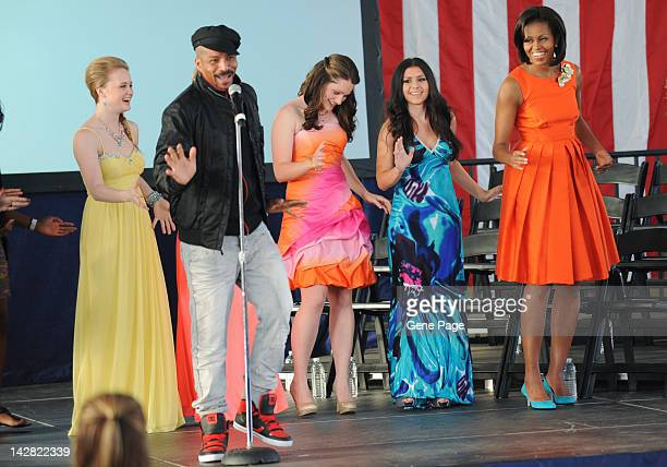 EVENTS First Lady Michelle Obama and Disney Channel's 'Shake It Up' choreographer Rosero McCoy surprise kids at the White House's Joining Forces...