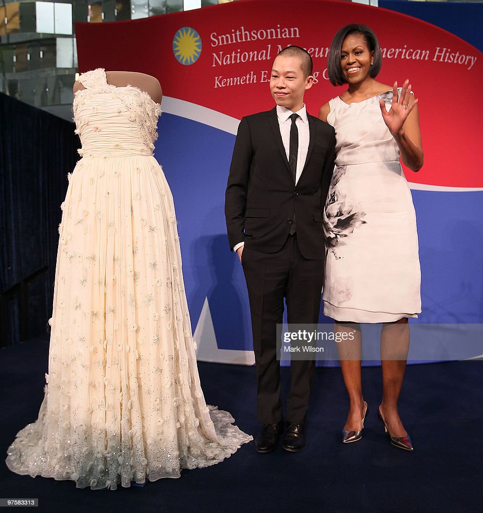First Lady Michelle Obama Donates Her Inaugural Gown To The Smithsonian : News Photo
