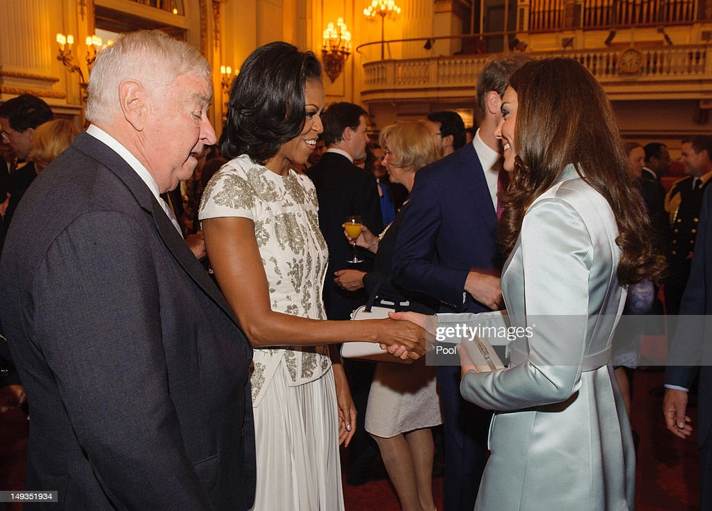 Reception At Buckingham Palace For Heads Of State And Government Attending The Opening Ceremony Of The Olympics : News Photo