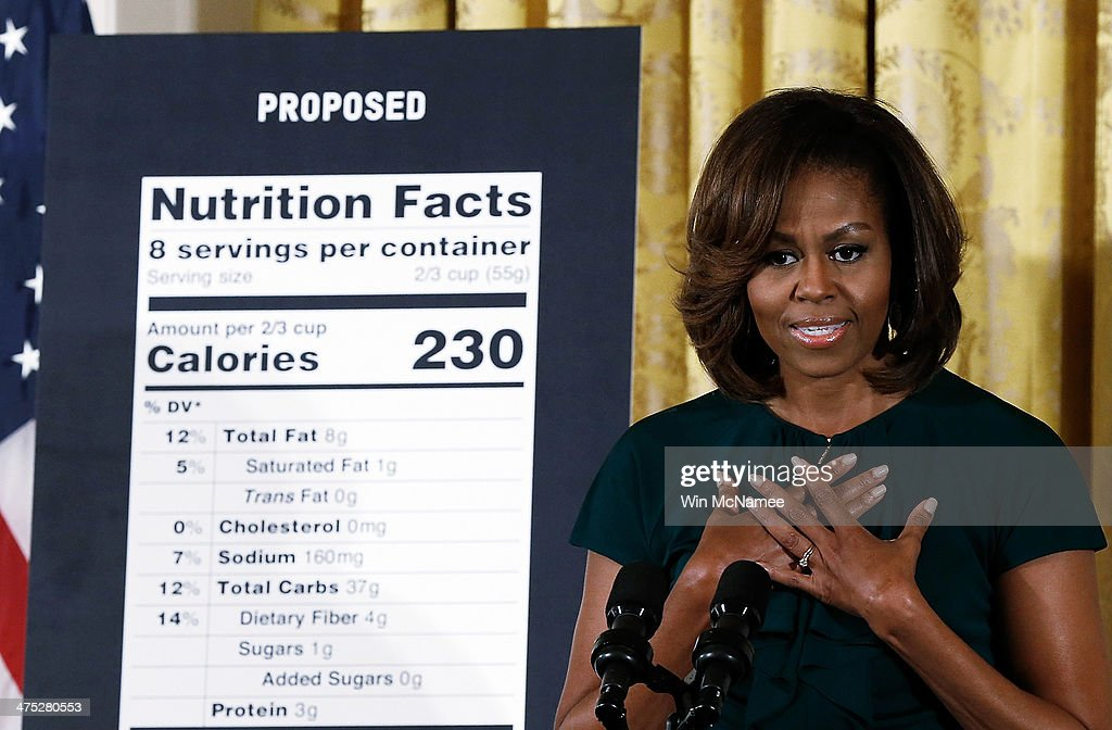 Michelle Obama Discusses Healthier Choices For Consumers At White House Event : News Photo