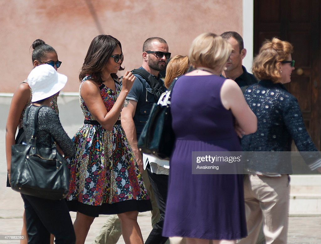 First Lady Michelle Obama Visits Venice : News Photo