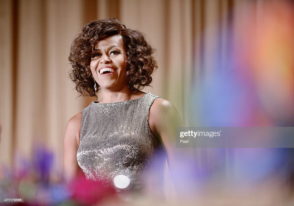 First Lady Michelle Obama attends the annual White House Correspondent's Association Gala at the Washington Hilton hotel April 25, 2015 in Washington, D.C. The dinner is an annual event attended by journalists, politicians and celebrities.
