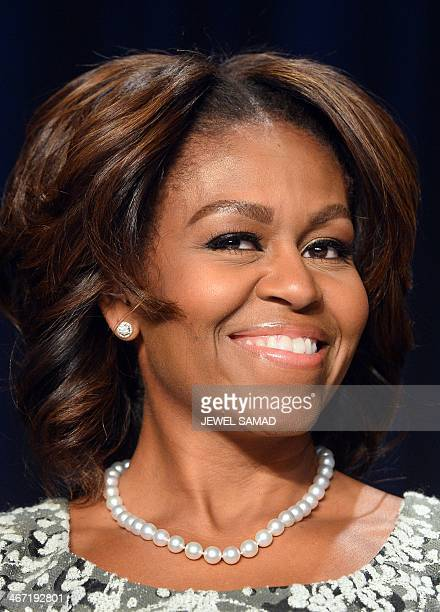 US First Lady Michelle Obama attends the National Prayer Breakfast in Washington DC on February 6 2014 AFP PHOTO/Jewel Samad
