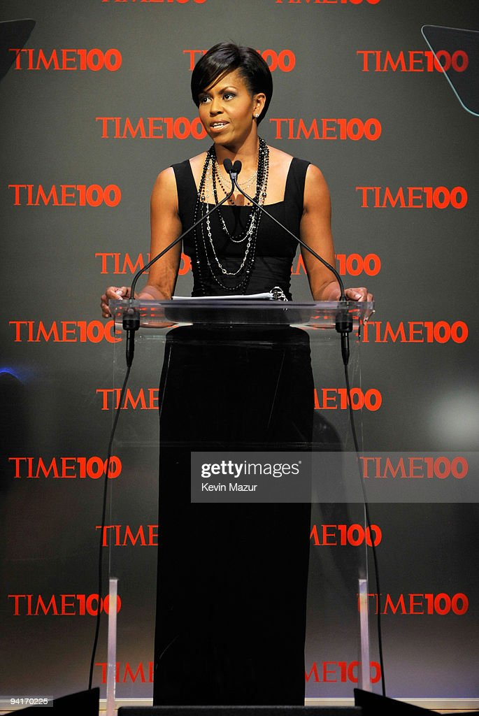 First Lady Michelle Obama attends the Time's 100 Most Influential People in the World Gala at Rose Hall - Jazz at Lincoln Center on May 5, 2009 in New York City.