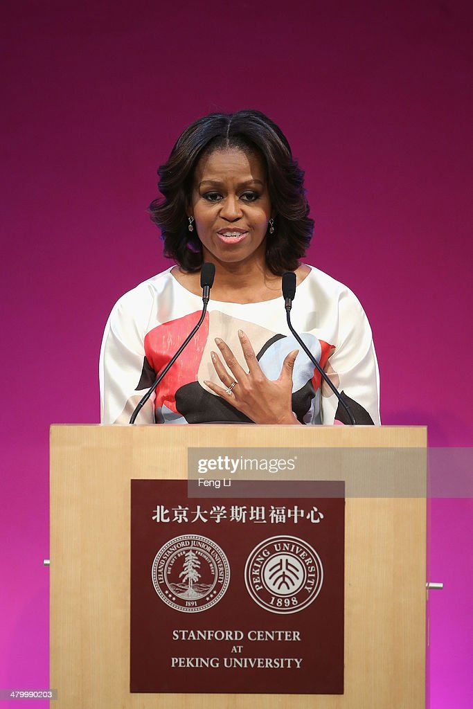 First Lady Michelle Obama Travels to China - Day 3 : News Photo