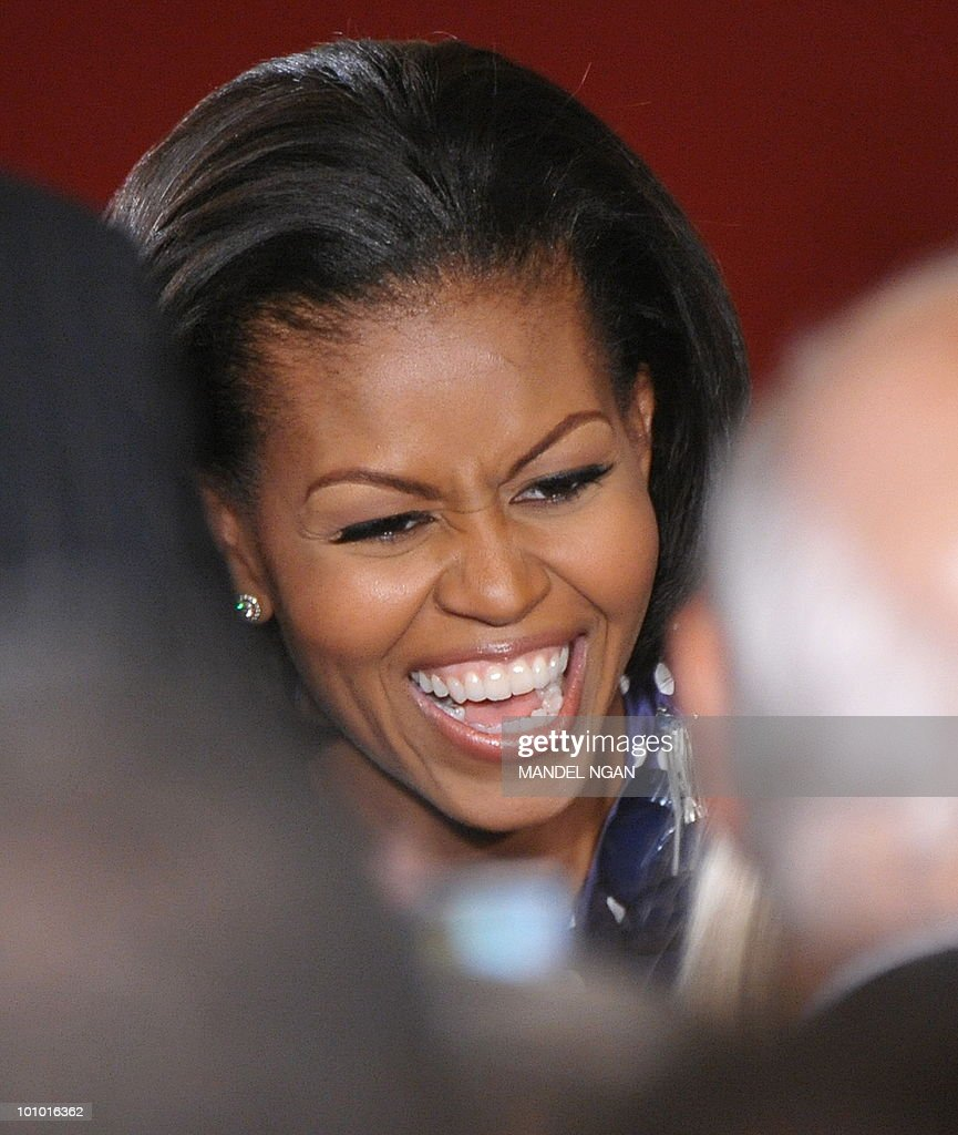 US First Lady Michelle Obama greets attendees during a reception celebrating Jewish American Heritage Month May 27, 2010 in the East Room of the the White House in Washington, DC. AFP PHOTO/Mandel NGAN