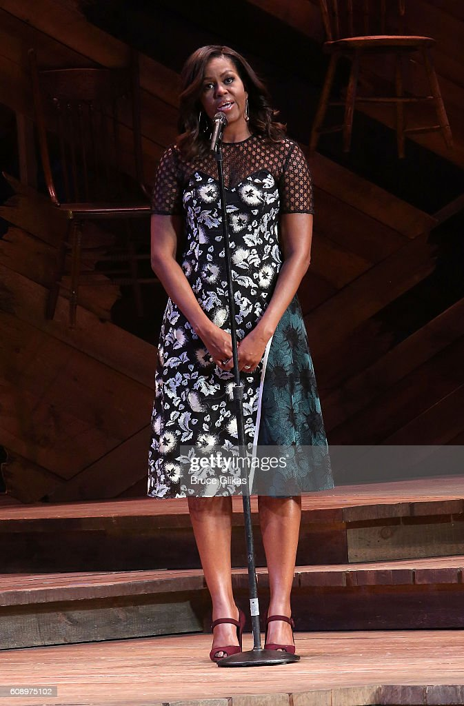 Michelle Obama Helps Broadway Shine A Light On Girls' Global Education : News Photo