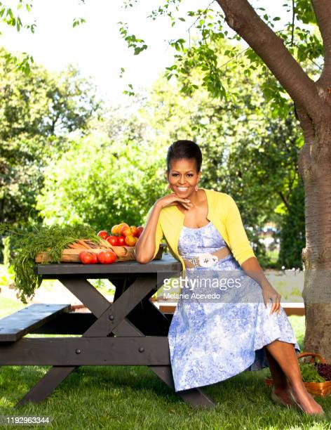 First Lady Michelle Obama is photographed for Better Homes Gardens Magazine on May 5 2011 in Washington DC COVER IMAGE