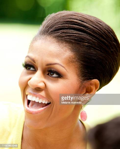 First Lady Michelle Obama is photographed for Better Homes Gardens Magazine on May 5 2011 in Washington DC