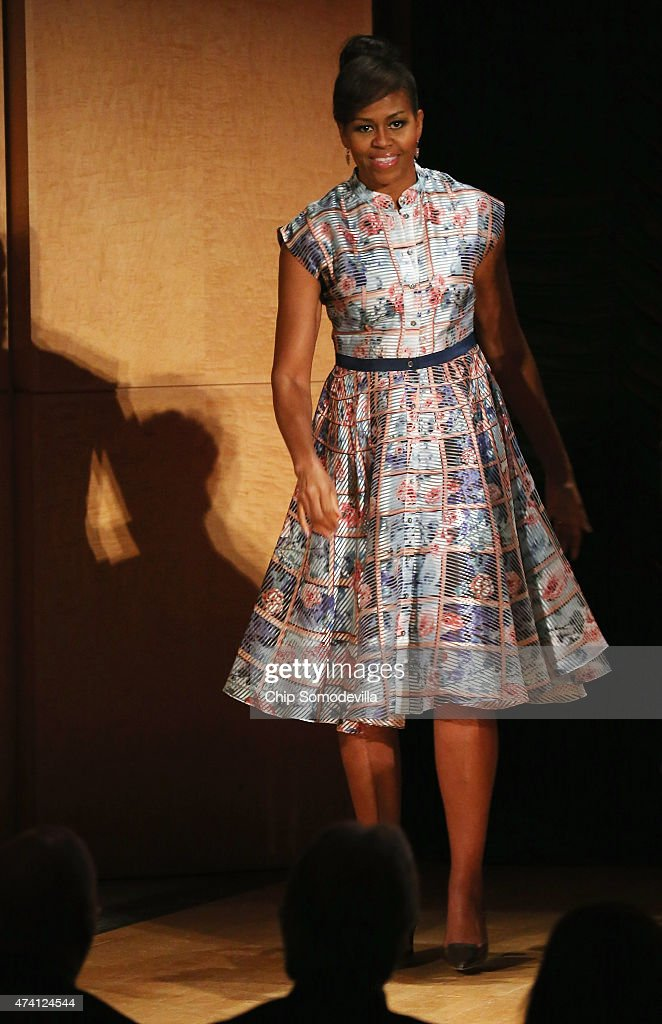 First Lady Michelle Obama And VA Secretary McDonald Speak At Hidden Heroes Coalition Summit Supporting Veterans : News Photo