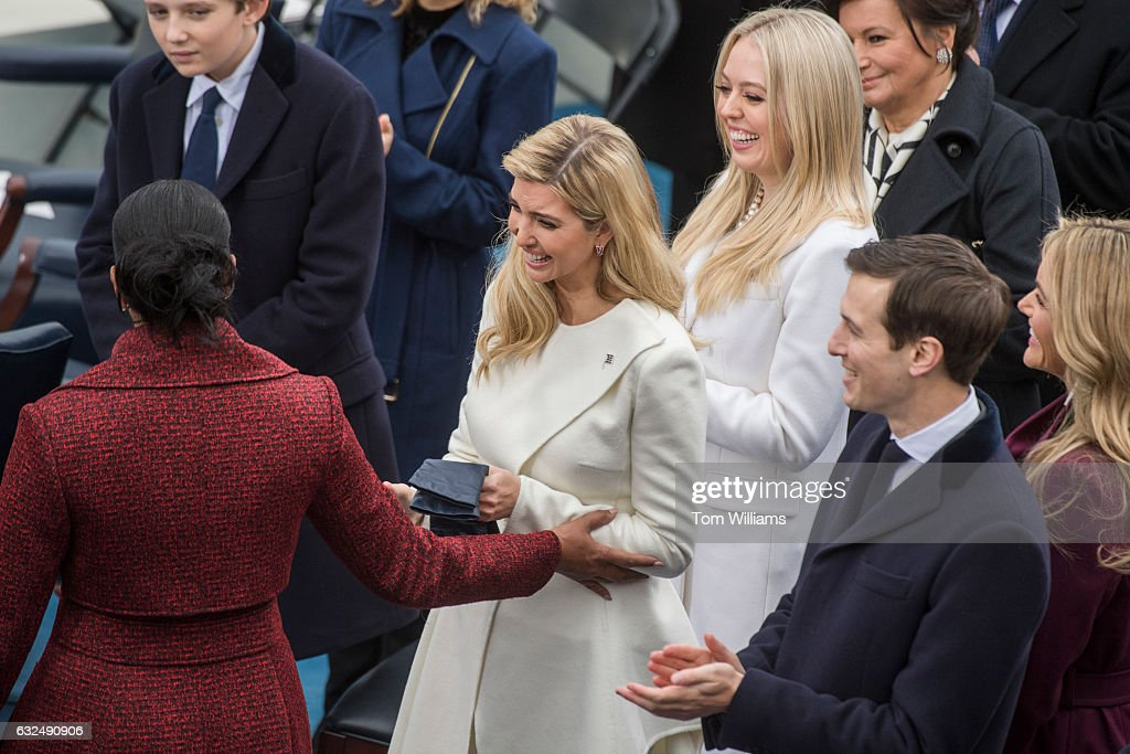 Inauguration day pictures getty images first lady michelle obama left greets ivanka trump shortly before donald j trump m4hsunfo