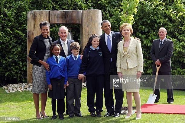 First lady Michelle Obama, Onyedika Ukachukwu, Dr Martin McAleese, Colm Dunne, Maragaret McDonagh, U.S. President Barack Obama, President of Ireland...