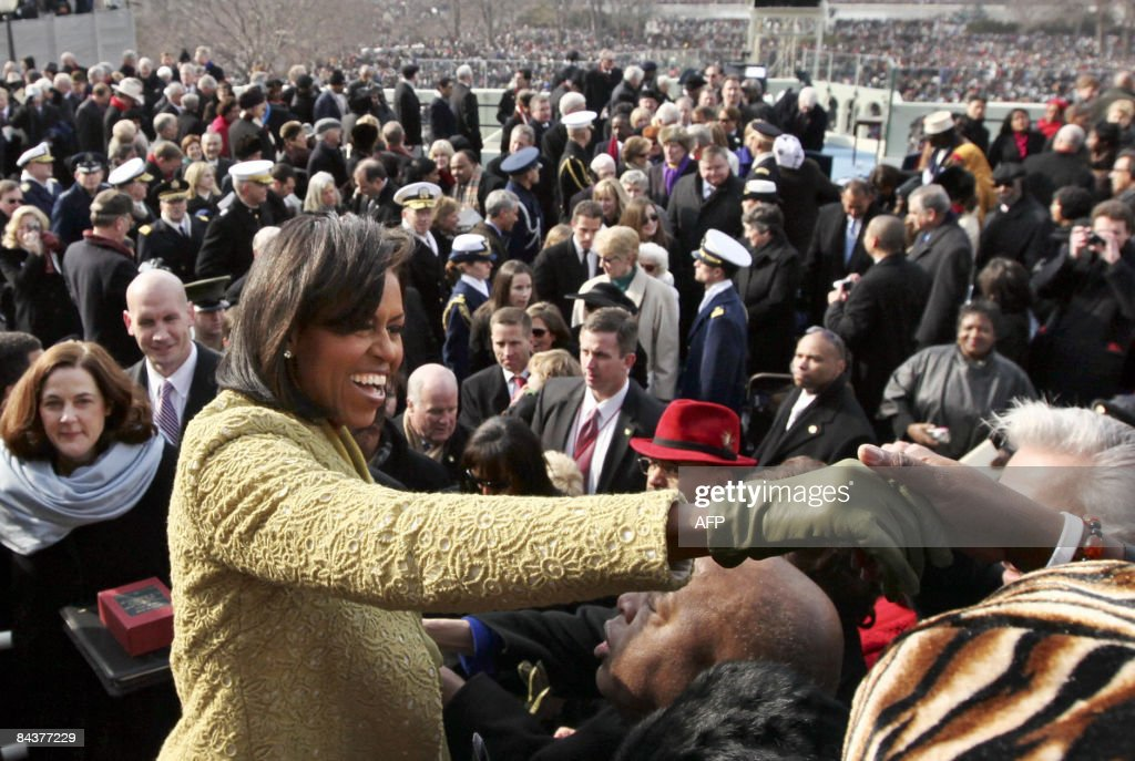 First lady Michelle Obama reaches out to : News Photo
