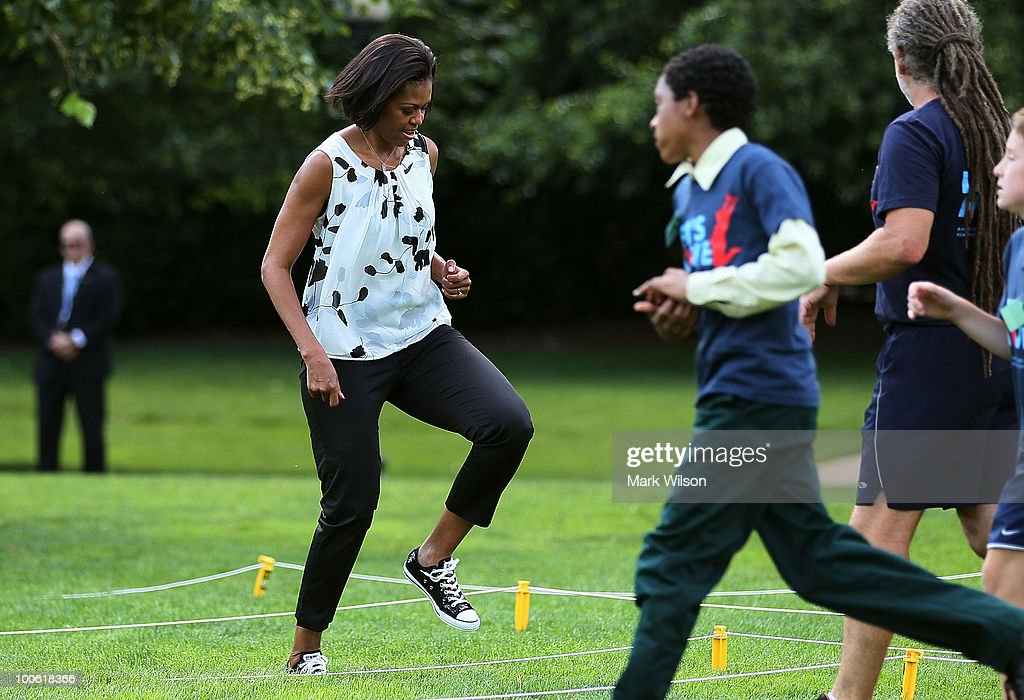 404bc2157670 Michelle Obama Kicks Off South Lawn Series Of Summer Activities For Kids    News Photo